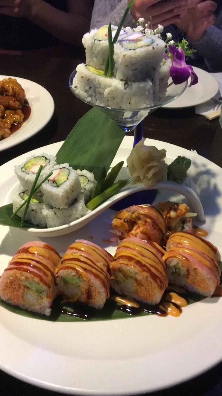 Sushi entree from Asian Harbor in Antioch