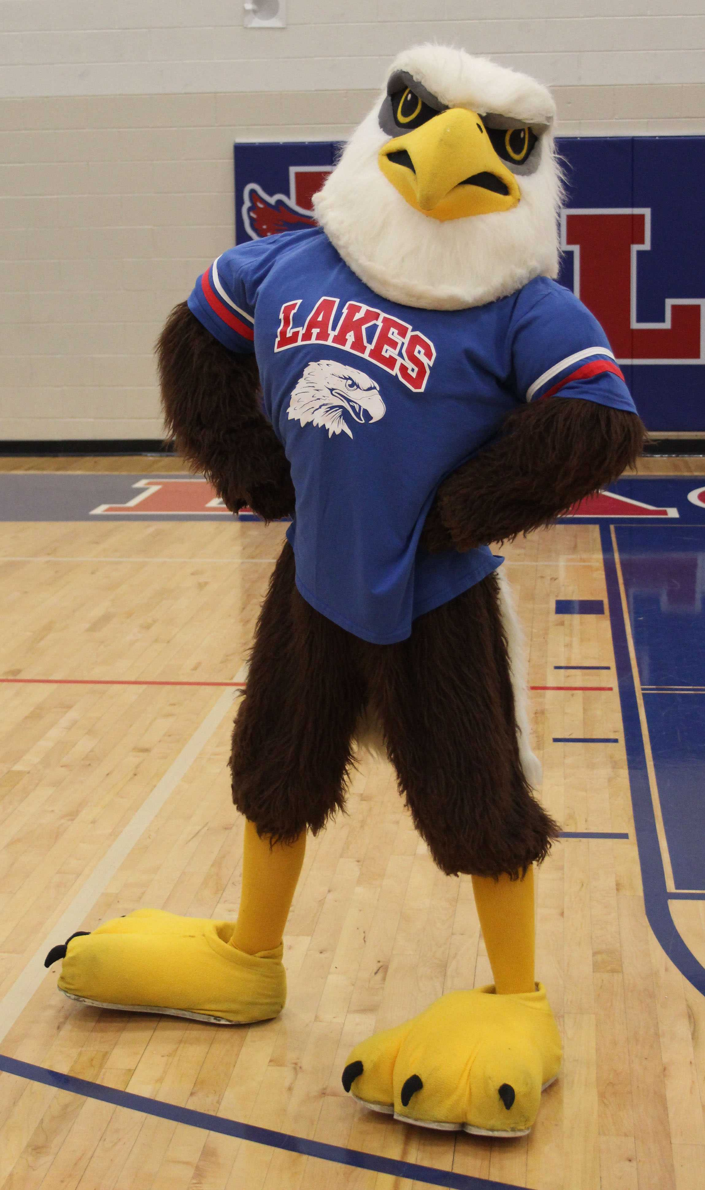 Ozzie the Eagle at the Eagle Pals Game