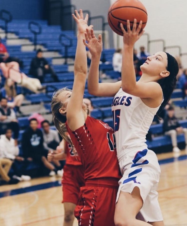 One of the Lakes Girls Basketball captains, Sara Smith